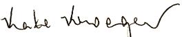 Kate Kroger's signature