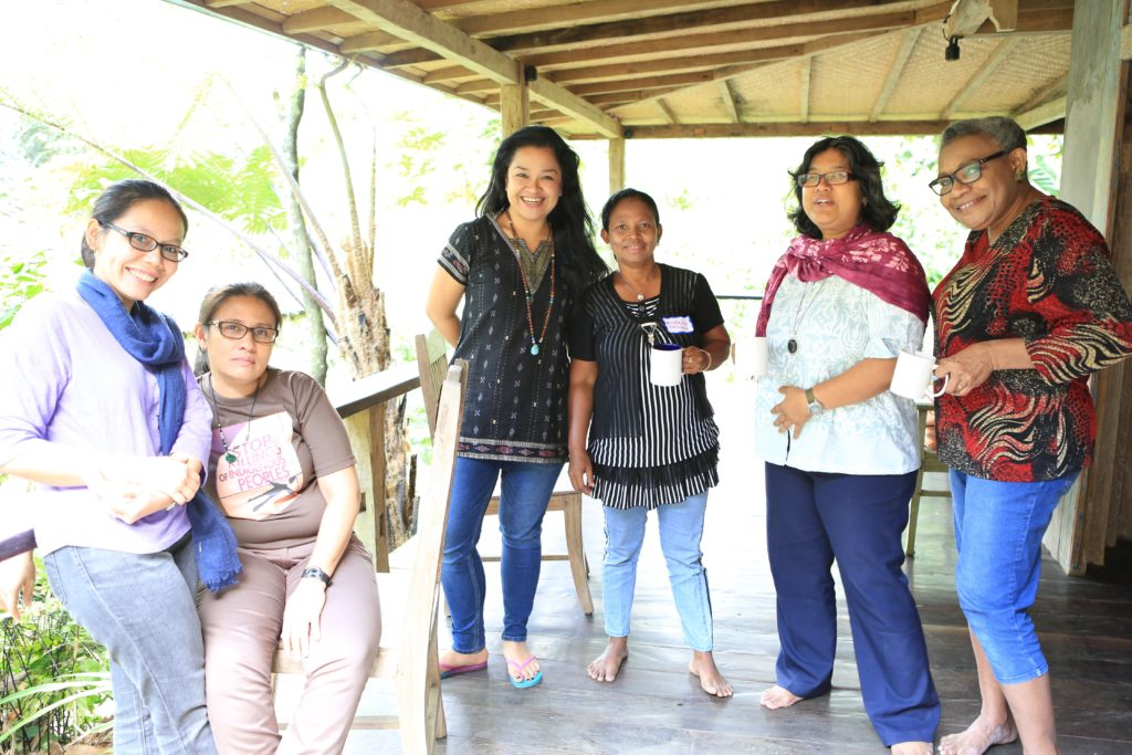 Environmental women's human rights defenders, Indigenous land rights activists, and Urgent Action Fund grantee partner. Indonesia, 2014.