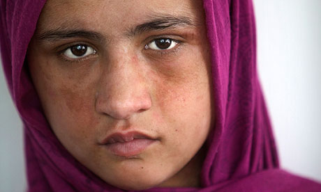 A 14-year-old at a women's shelter in Kabul.