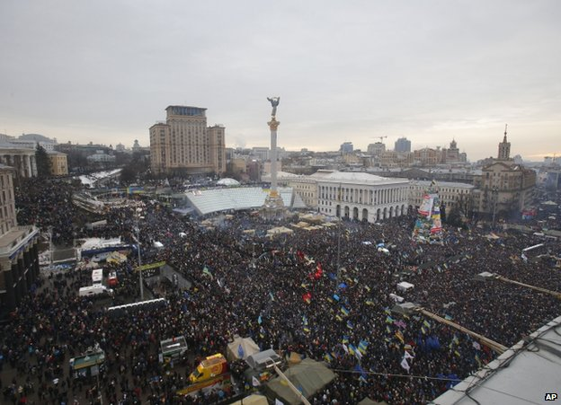 Pro-EU rally on Kiev's Independence Square, 15 December 2013