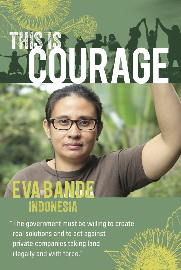 This is Courage Eva Bande. The government must be willing to create real solutions and to act against private companies taking land illegally and with force.