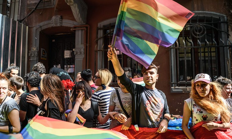 Police fire rubber bullets at LGBT protesters in Istanbul, June 2016. Photograph: Ozan Kose/AFP/Getty Images